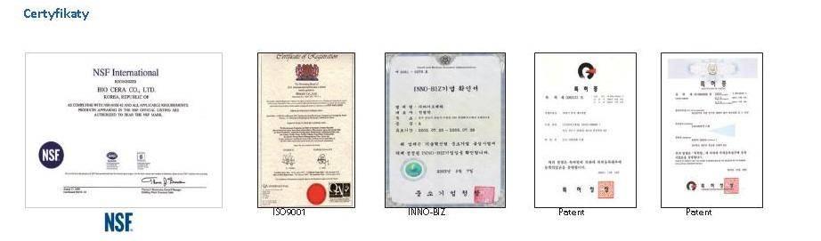 Słuchawka Certyfikaty