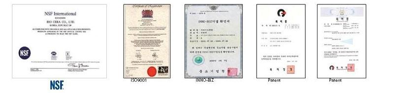 Biocera słuchawka certyfikaty
